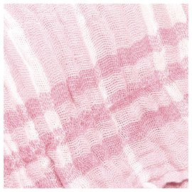 Burberry-Burberry Pink Plaid Knit Scarf-Pink
