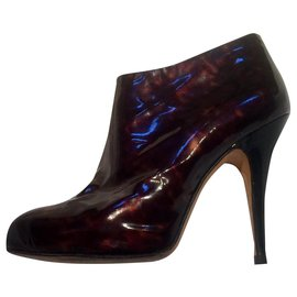 Giuseppe Zanotti-Patent tortois patterned boots-Brown