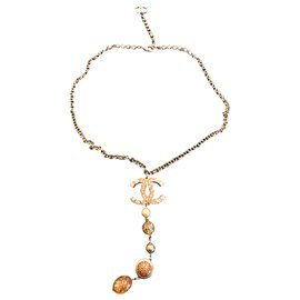 Chanel-Chanel long necklace-Gold hardware