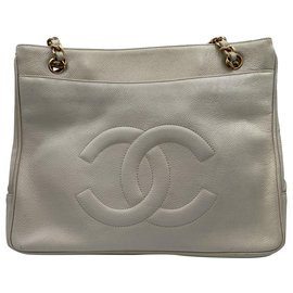 Chanel-Chanel Shopper white caviar-Blanc