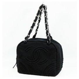 Chanel-CHANEL COCO Mark Chain Shoulder Sac à bandoulière Femme Noir x Matériel Argent-Noir,Bijouterie argentée