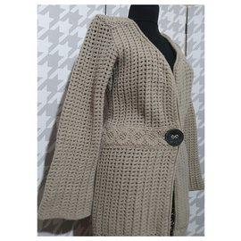 Elisa cavaletti-Knitwear-Beige