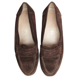 Chanel-Chanel p penny loafer moccasins 37-Dark brown