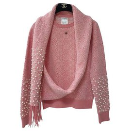 Chanel-Chanel cashmere sweater.-Pink