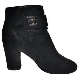 Chanel-Booties-Black