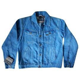 Autre Marque-LEE Jeans NWT Blue Denim Western Trucker Jean Jackets, size M & XL-Blue