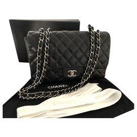 Chanel-Quincaillerie Chanel Timeless Jumbo Argent-Noir