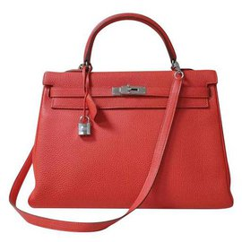 Hermès-hermes kelly 35 Leather Handbag-Other