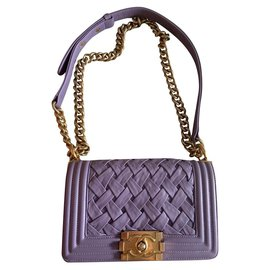Chanel-Sac Chanel Purple Boy Mini bag-Lavande