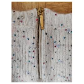 Chanel-Chanel strass wool sweater-White