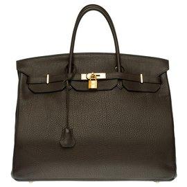 Hermès-Splendid Hermès Birkin 40 in brown Togo leather, new gold-plated metal fittings-Brown