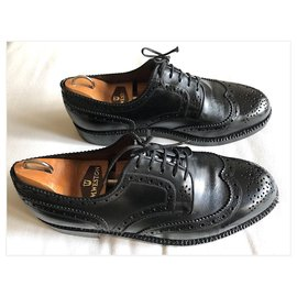 JM Weston-J.M. WESTON - TRIPLE SOLE DERBIES-Black
