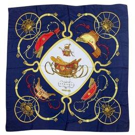Hermès-Springs of Hermes-Navy blue