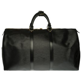 Louis Vuitton-Louis Vuitton Keepall Travel Bag 50 in black epi leather in very good condition-Black
