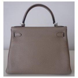 Hermès-Hermes Kelly bag 28-Grey
