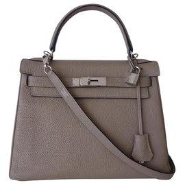 Hermès-Hermes Kelly Tasche 28-Grau