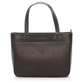 Burberry-Burberry Brown Nylon Handbag-Brown,Black
