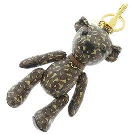 Burberry-Burberry Brown Thomas Bear Charm Key Chain-Brown,Beige