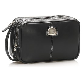 Burberry-Burberry Black Leather Pouch-Black