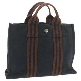Hermès-Hermès Herline-Navy blue