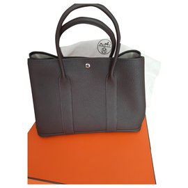 Hermès-Hermès Garden Party bag-Dark brown