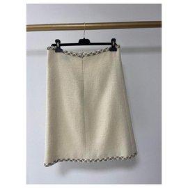 Chanel-Chanel Paris Salzbourg 2 jupe en tweed à poche-Beige
