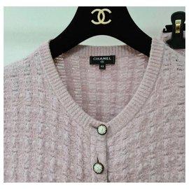 Chanel-Chanel 17A Paris-Cosmopolite Cardigan Jupe Ensemble Ensemble Boutons Lion-Rose