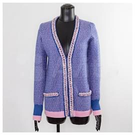 Chanel-cardigan à bordure tressée-Multicolore
