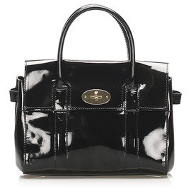 Mulberry-Mulberry Black Bayswater Patent Leather Handbag-Black