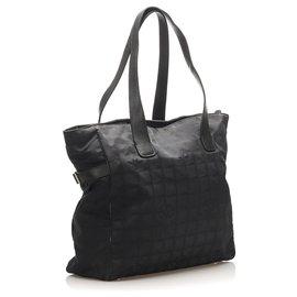 Chanel-Sac cabas en toile noir New Travel Line de Chanel-Noir