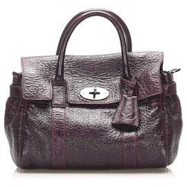 Mulberry-Mulberry Purple Bayswater Leather Satchel-Purple