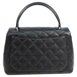Chanel-CHANEL Matelasse Sac à main Femme Noir x Matériel Argent-Noir,Bijouterie argentée