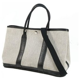 Hermès-HERMES Garden PartyT PM Womens tote bag black-Black