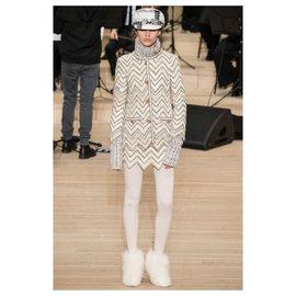 Chanel-9K $ nouvelle veste Paris-Hambourg-Écru