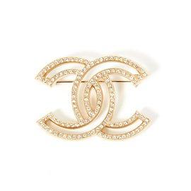 Chanel-LIGHT MAXI CC RHINESTONES-Doré