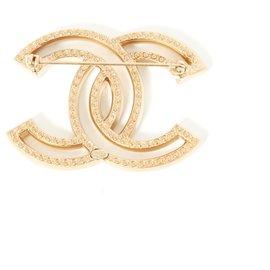 Chanel-LIGHT MAXI CC RHINESTONES-Golden