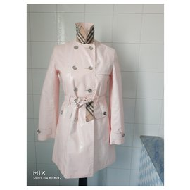 Burberry-Pink trench coat-Pink
