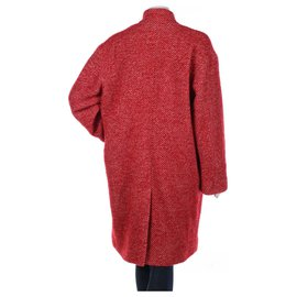 Iro-Coats, Outerwear-White,Red