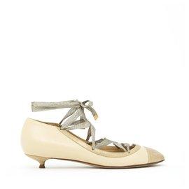 Chanel-BEIGE GOLD BALLERINA FR39-Beige,Golden