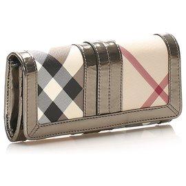 Burberry-Burberry Brown Nova Check Penrose Long Wallet-Brown,Multiple colors,Beige