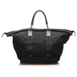 Chanel-Chanel Black Timeless Canvas Travel Bag-Black