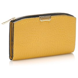 Burberry-Burberry Yellow Madison Leather Long Wallet-Yellow