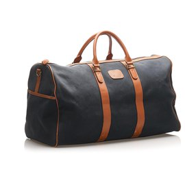Burberry-Burberry Brown Canvas Travel Bag-Brown