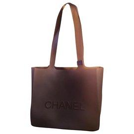 Chanel-Plastic bag-Grey
