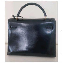 Hermès-Kelly Sellier 32 Box-Black