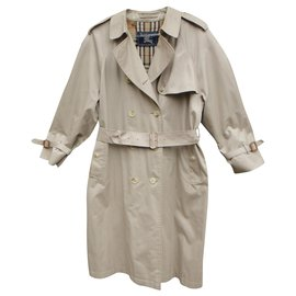 Burberry-Burberry Vintage Trencher 42 with removable wool lining-Beige