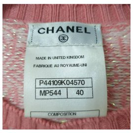Chanel-Chanel, Paris-Bombay Runway Pink Scarf Sweater-Pink