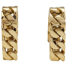 Hermès-Hermès cufflinks, chain link in yellow gold.-Other