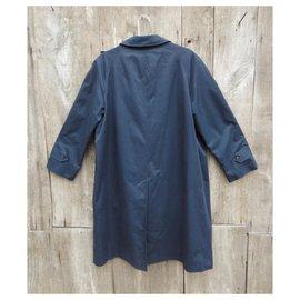 Burberry-Burberry woman raincoat vintage t50-Navy blue
