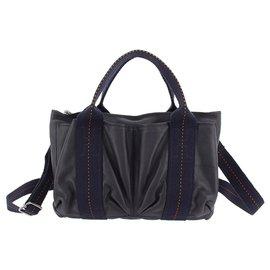 Hermès-Hermes Blue Caravan Horizontal PM-Blue,Navy blue